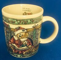 Boyds Bearware Pottery Works Twas The Night Before Christmas Mug Santa 1999