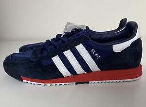 Adidas Originals SL 80 Navy Blue White Red Mens Sz 11.5 Running Sneakers FV4415