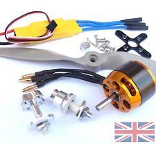 Motor Sin Escobillas Outrunner Grande 350 W 1370 kV + Kit de utilería 40 A Esc + Combo Reino Unido