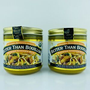 2-Jars Better Than Bouillon Organic Roasted Chicken Base Reduced Sodium 16 oz