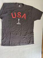 FIFA Women World Cup 2019 France Men's Short Sleeve  USA T-shirt Gray NEW XXL