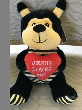 Jesus Loves Me Heart Bumble Bee 12 inches SOFT Stuffed Animal CUTE NWT