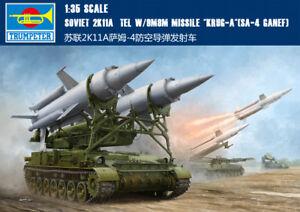 SOVIET 2K11A TEL W/9M8M MISSILE KRUG-A SA-4 GANEF 1/35 tank Trumpeter model kit