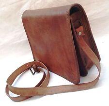 New Unisex Vintage Brown Leather Full Flap Messenger Laptop Satchel Shoulder Bag