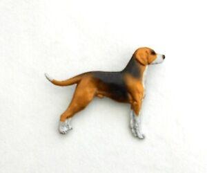 Dog Show Breed Brooch pin - Hamiltonstovare Hamilton Hound Swedish Foxhound