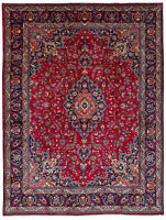"""Hand-knotted Carpet 9'9"""" x 13'1"""" Traditional Vintage Wool Rug"""