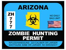 Arizona Zombie Hunting Permit (Bumper Sticker)