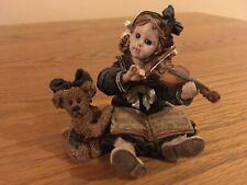 Boyds Dollstone Violin Bear Figurine Lindsey Louise The Recital 1998
