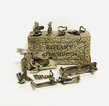 VTG. Domestic Greist Sewing Machine Rotary Attachments & Accessories w/ Tucker..