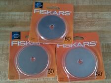 3 Packages Fiskars 60mm Rotary Blades *NEW & SEALED* FREE SHIPPING! 020335011229