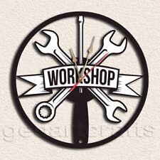 Workshop Vinyl Record Clock Upcycled Gift Idea