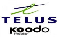 TELUS KOODO BLACKBERRY Z10 Z30 Q5 Q10 PRIV KEYONE PASSPORT CLASSIC UNLOCK CODE