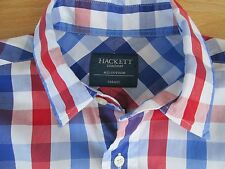 HACKETT SHIRT SHORT SLEEVED RED BLUE & WHITE CHECK SIZE SMALL EXCELLENT CONDITIO