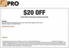 2 Home Depot $20 off $200 In Store Only Money Back Guaranteed INSTANT Exp 9/4