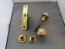 VTG Antique Yale & Towne Y&T Brass Face Mortise Door Lock R&E Dijon Knobs ?