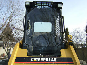 "Caterpillar Cat 1/2"" UNBREAKABLE Door+sides! LEXAN POLYCARBONATE Skid Steer cab"