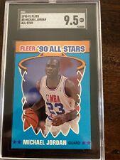 1990-91 Fleer #5 Michael Jordan All-Star SGC 9.5