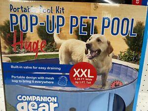Portable Pop Up Pet Dog Pool X X Large Durable Scratch Slip Resistant Easy Drain