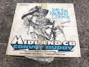 1976 CW McCall Convoy Buddy Midland 13-882C CB Radio New In Box Trucker Radio