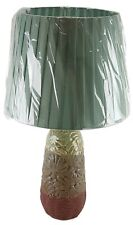 """Ceramic 20"""" Table Lamp with Shade Tri Texture Finish Night Stand Counter U/L"""