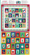 "Christmas Advent Calendar Fabric Panel Novelty Christmas 24"" x 44"" by Makower"