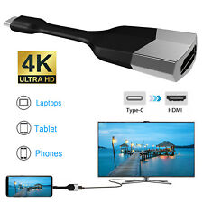 For Samsung Galaxy S20 Ultra/S10+/S9 USB-C Type-C to HDMI 4K HDTV Adapter Cable