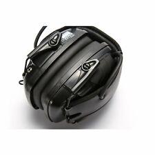 Black 82 dB Safety Electronic Shooting Ear Defenders Impact Earmuffs Headset HAU