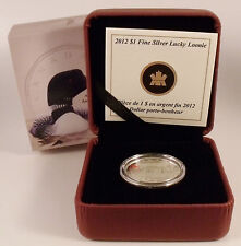 CANADA 2012 PROOF 25th ANNIVERSARY $1 LUCKY LOONIE 99.99% FINE SILVER COIN