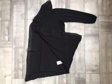 QUE DENMARK BLACK OPEN FRONT CARDIGAN XL