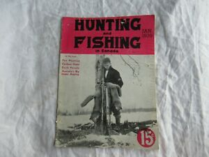 1939 Hunting and Fishing in Canada magazine duck parade caribou chase fox hunt