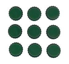 Set Lot of 50 GREEN Blank Single Sided Colored BOTTLE CAPS Crowns Unused