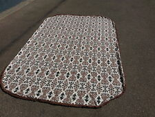 VINTAGE COVERLET WITH FRINGE AND CURVED EDGES MADE BY CRAIG CREATIONS 104x70