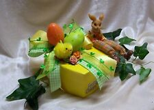 Geschenkbox HERZ Geldgeschenk Herzbox OSTERN mit Osterhase Orange Grün /Gelb NEU