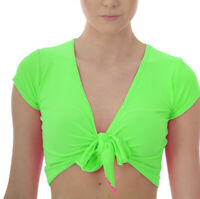NEON GREEN SHRUG BOLERO CROPPED  80'S FANCY DRESS TUTU RAVE CYBER ALTERNATIVE
