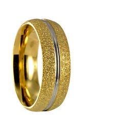Edelstahl Bicolor silber / gold Ring Partnerring Ehering mit gratis Gravur 10162