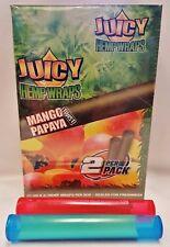 25 Packs Juicy Jays Mango Papaya Hemp Wraps 2 Per PK & 2 Buddies Torpedo Tubes