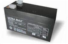 Ultra max 12v 1.2 ah - 1,3 ah connexion alarme antivol batterie avec 1 an de garantie