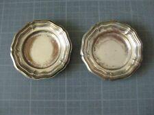 2 coupelles en métale argenté