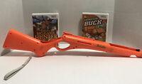 Cabela's Monster Buck Hunter, Big Game Hunter Nintendo Wii 2010 With Shotgun
