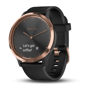 Garmin Vivomove HR Rose Gold with Black Silicone Band *No Charger*