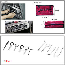 20pcs Car SUV Stainless Steel Radio Stereo CD Player Removal Installation Tools