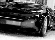 Murales papier peint photo noir voiture de sport style Lamorghini Adultes & Enfants Chambre