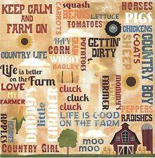 Karen Foster - Life on the Farm Scrapbooking Paper - 65007