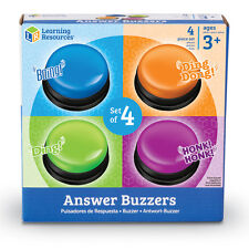 Answer Buzzers for Kids Classroom Game Show Wireless Sound Effects Set of 4
