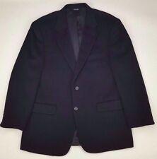 BILL Blass CAMEL Hair BLAZER Black 42R Lined TWO Button MENS Size B1002 Sz MAN**