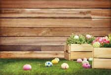 5x3FT Colorful Eggs Lawn Board Vinyl Photography Background Photo Props Backdrop