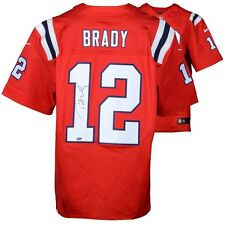 Tom Brady New England Patriots Autographed Red Elite Nike Jersey