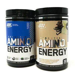 Optimum Nutrition ON Amino Energy 30 Servings BCAA EAA Amino Acids Pre-Workout