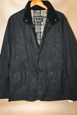 #127  Barbour Tailored Sapper Waxed Cotton Jacket Size XXL   black