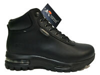 Men's Brand New Mountain Gear Hiking Black Leather Everyday Boots [317015 01A]